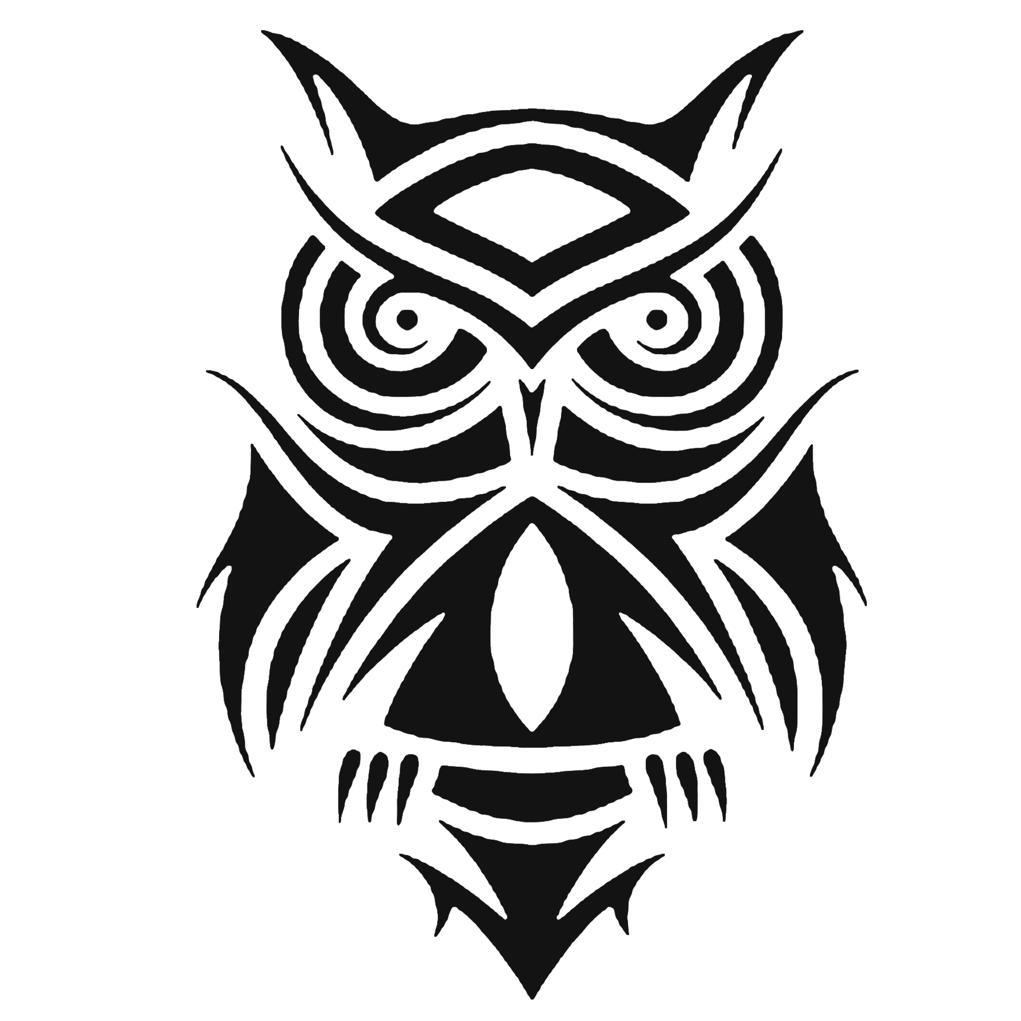 Tribal Owl Boho Design T-Shirt Printable Digital Download - BohoEntice