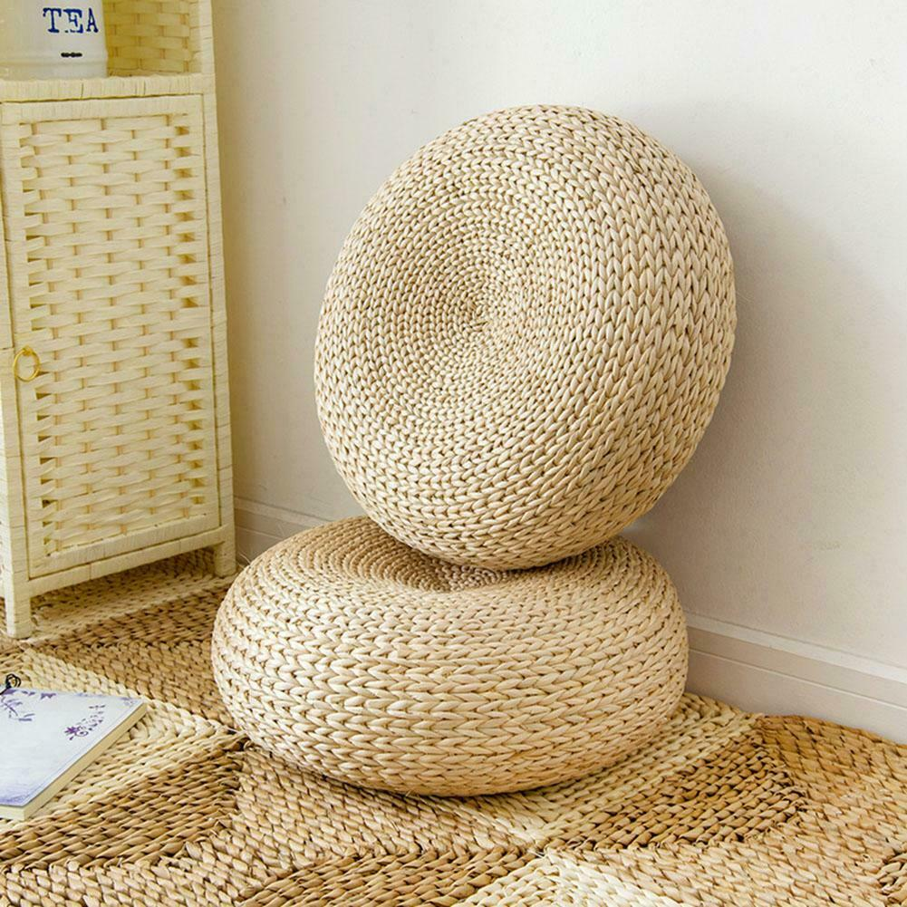 1 pc Meditation Cushion Tatami Cushion Round Straw Mat Chair Seat Pad Pillow Round Floor Tablemat Japanese-style Dropshipping - BohoEntice