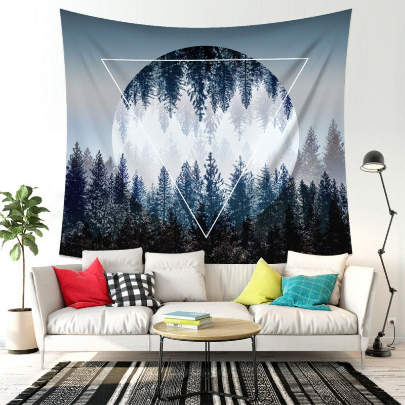 Forest Tapestries Polyester Fabric Print Home Decor Wall Hanging Tapestry Beach Psychedelic Chakra Blanket For Living Room - BohoEntice