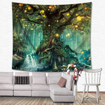 Bohemian Home Art Psychedelic Tapestries Decors Mandala Tapestry Wall Hanging Witchcraft Hippie Beach Throw Rug Moon Travel Boho - BohoEntice