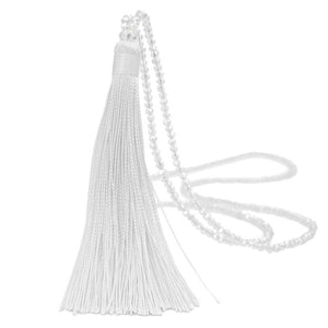 Vintage Long Tassel  Necklaces Drop Sweater Chain Choker For Girls Necklaces Boho Glass Crystal Bead Necklace Women Jewelries - BohoEntice