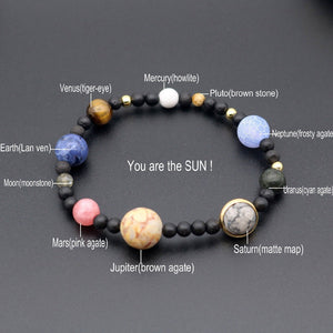 Eight Planets Natural Stone Adjustable Bracelet - BohoEntice