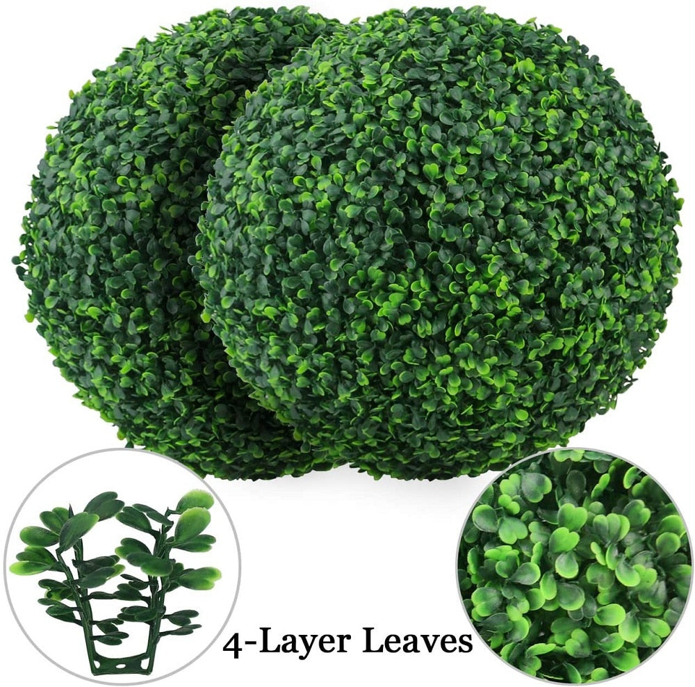 Artificial Plant Topiary Ball Garden Outdoor Decoration Balls Eco-friendly Lawn Garden Yard Home Decorations