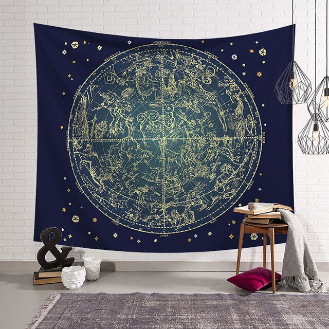 2019 latest dream catcher tapestry Psychedelic Moon and Sun Wall Hanging Beach Towel Art Tapestry Dorm Home Decor - BohoEntice