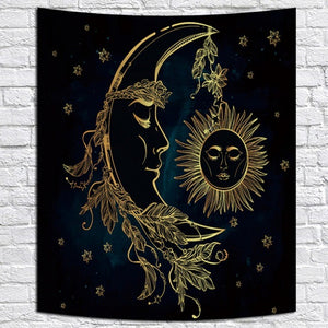 Mandala Tapestry Wall Hanging Witchcraft Beach Throw Rug Moon Travel Boho Bohemian Home Art Psychedelic Tapestries Decors - BohoEntice