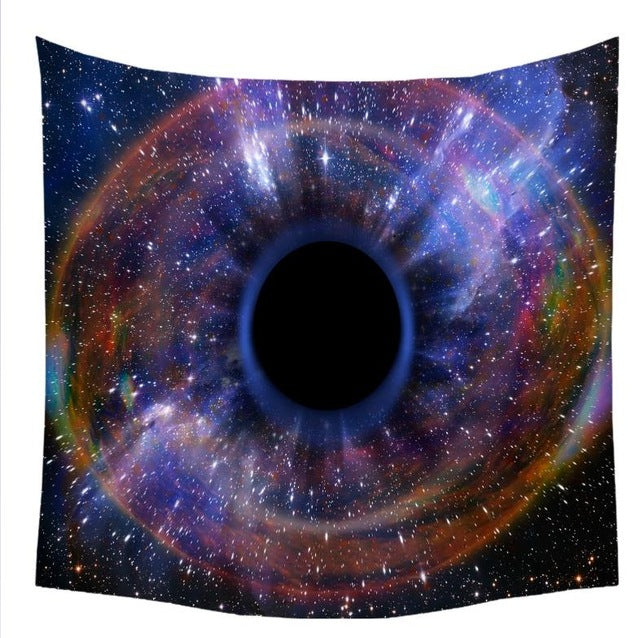 Black Hole Galaxy Nebula Universe Outer Space Psychedelic Wall Tapestry Hanging Art Decor For Living Room Bedroom Dorm