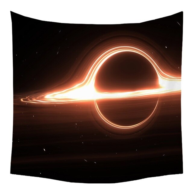 Black Hole Galaxy Nebula Universe Outer Space Psychedelic Wall Tapestry Hanging Art Decor For Living Room Bedroom Dorm - BohoEntice