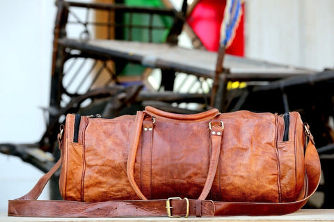 Classic Travel Gym Vintage Duffle Bag - BohoEntice