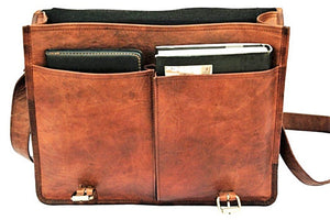 Corey Leather Messenger Briefcase Bag - BohoEntice
