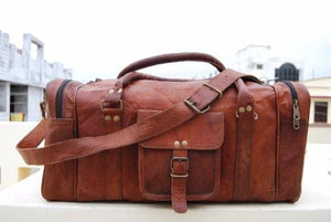 Dylan's Leather Weekend Duffle Bag - BohoEntice