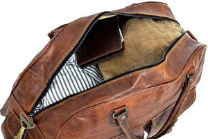 Charlotte's Classic Leather Duffle Bag - BohoEntice