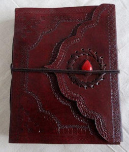 Vintage Style Classic Leather Notebook Embossed - BohoEntice