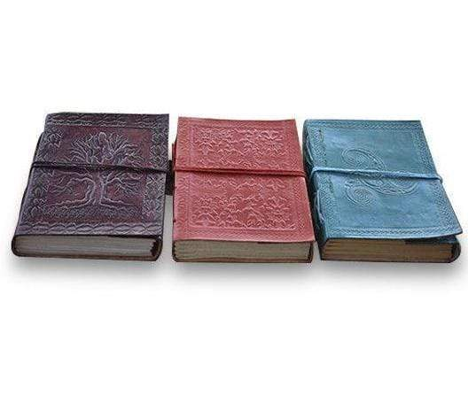 Set of 3  Vintage Embossed Blank Pages Journal Personal Notebook Dairy - BohoEntice