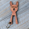 Upside Down Kitty Keychain