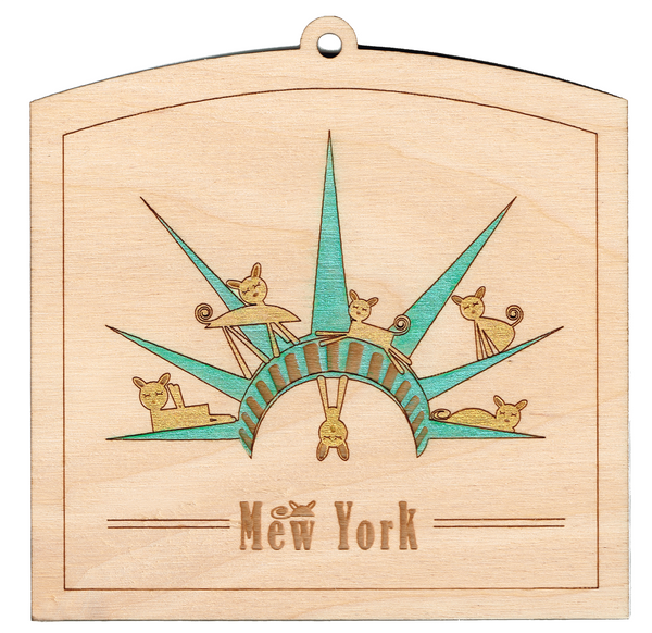 """Mew York, Statue of Liberty"" Laser Etched Wall Hanging"