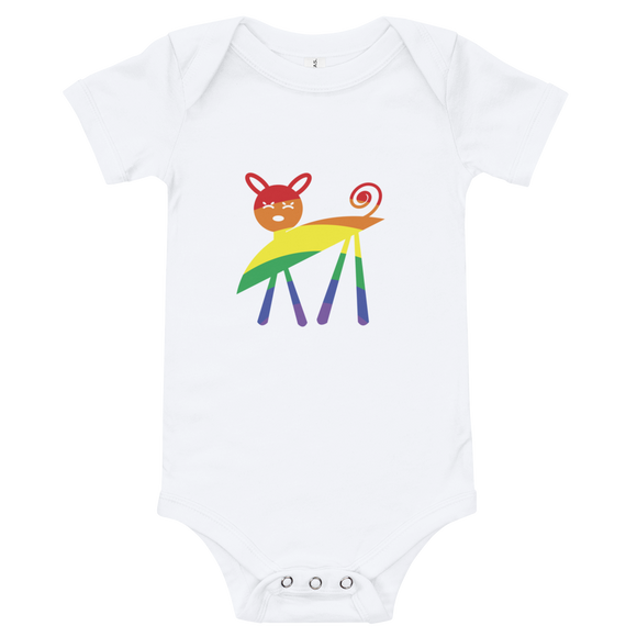 Rainbow Kitty Baby Onesie