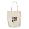 """I love Cats"" Cotton Tote Bag"