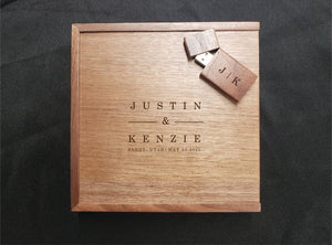Laser Engraved Box + Flash Drive
