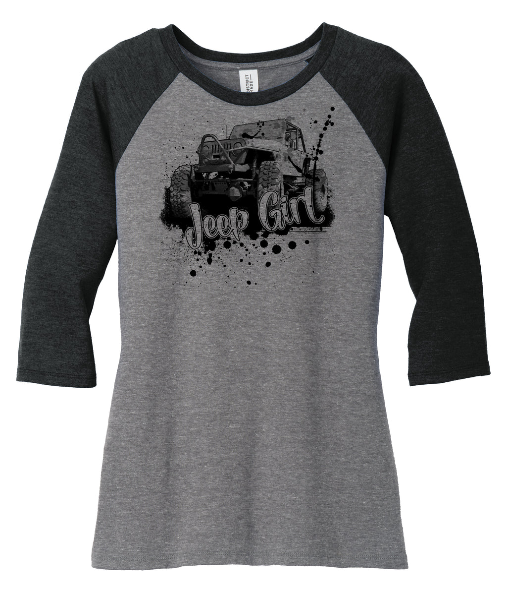Jeep Girl, Soft & Comfy Ladies Raglan Tee - Florida Native