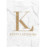 Kenny Lattimore Fleece Blanket White