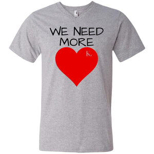 WE NEED MORE LOVE Men's V-Neck T-Shirt