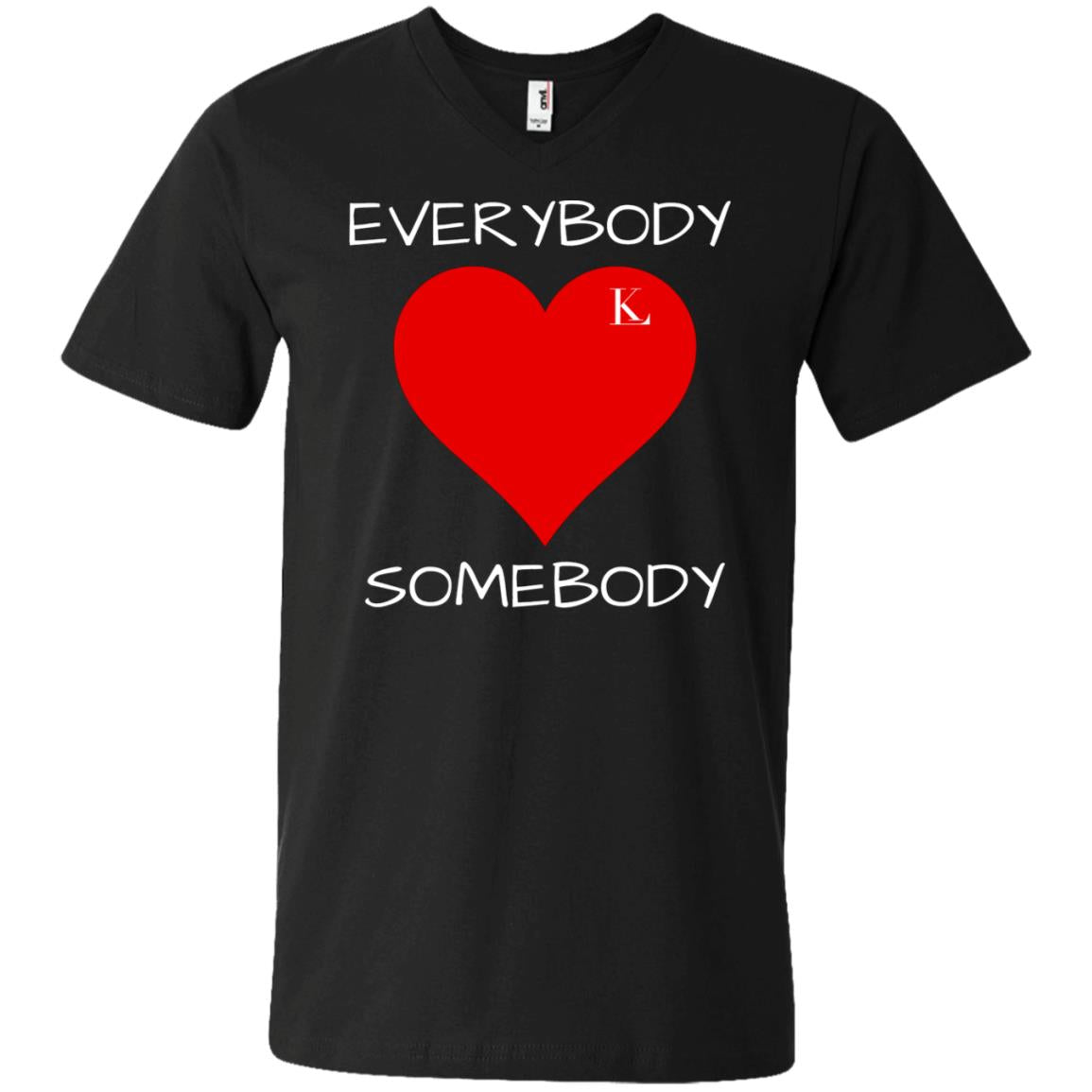 Everybody Love Somebody Men's V-Neck T-Shirt
