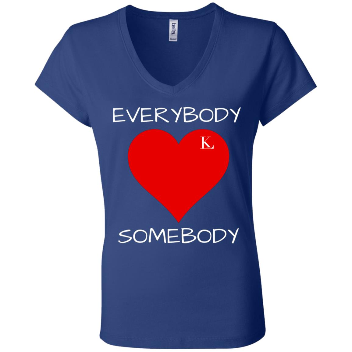 Everybody Love Somebody Women's V-Neck T-Shirt