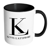 Kenny Lattimore Black Logo White Mug