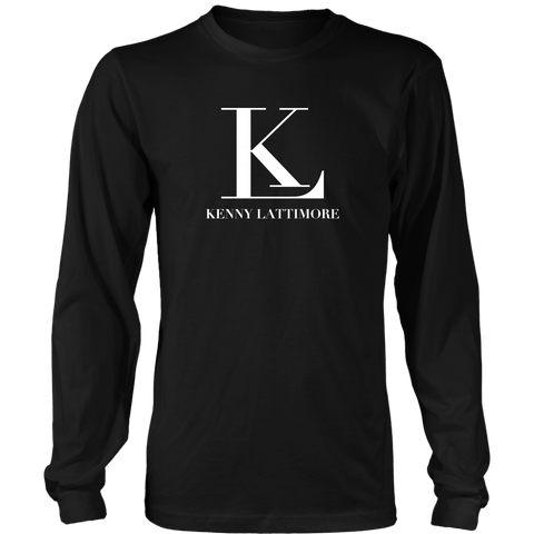 Kenny Lattimore White Logo Long Sleeve Shirt