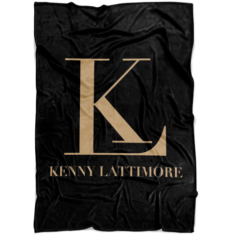 Kenny Lattimore Fleece Blanket Black