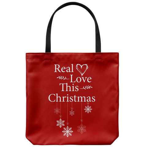 Real Love This Christmas Tote Bag