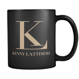Kenny Lattimore White Logo Black Mug