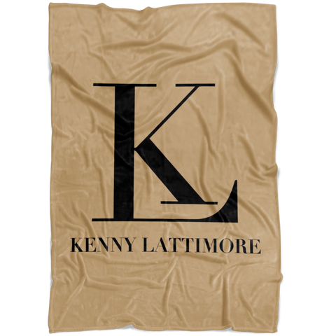 Kenny Lattimore Fleece Blanket Tan