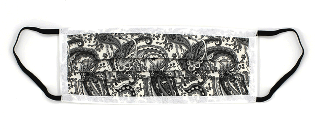 Black Paisley Face Masks - LIMITED EDITION