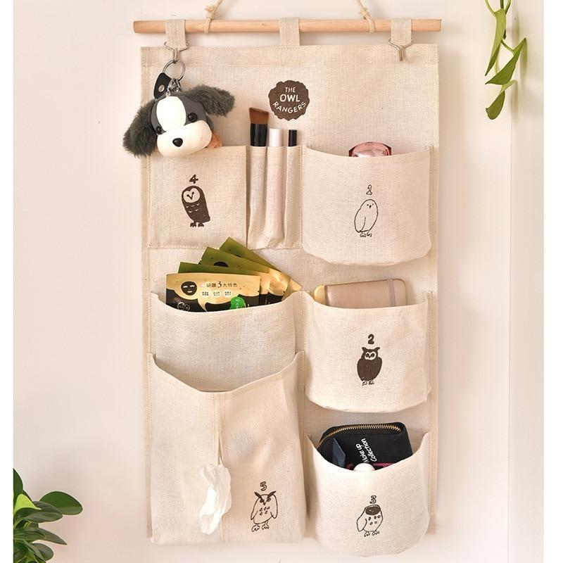 Saving Space 9 Pockets Home Wall Hanging Organizer Storage Toys Paper Tissues Glasses Bedroom Bathroom Organizer Container