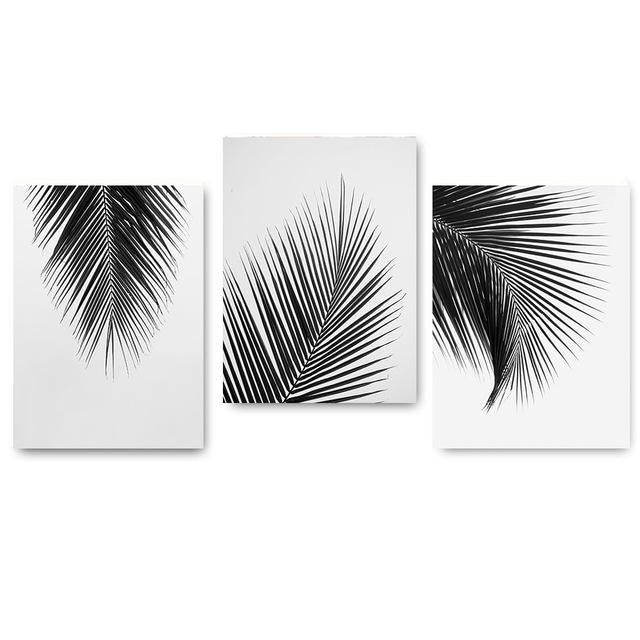 Palm Leaves Canvas Prints - Wall Art (Unframed) - wallandroom.com