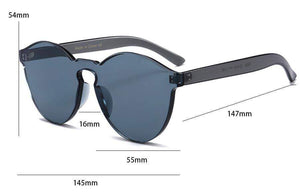 Colorful Vitaly Designer Clout Rimless Sunglasses - For The Minimalist Man