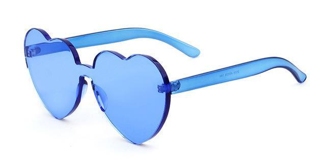 Vitaly Rimless Heart Shaped Love Sunglasses - For The Minimalist Man