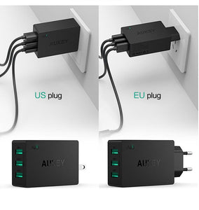 3 Port USB Wall Charger (2.4A Fast Charge) - For The Minimalist Man