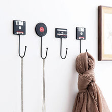 Minimalist Retro Tape Disk Coat Key Hanger Adhesive No Drilling Required - For The Minimalist Man