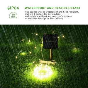 Solar Powered Waterproof Copper LED Light Strip - For The Minimalist Man