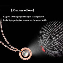"""I Love You"" Necklace - in 100 Languages - For The Minimalist Man"
