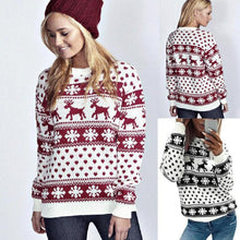 Reindeer and Snowflakes Christmas Sweater - For The Minimalist Man