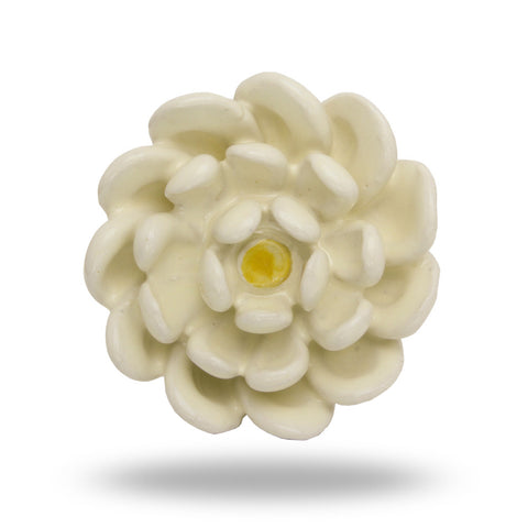 CERAMIC JAYNE FLOWER KNOB