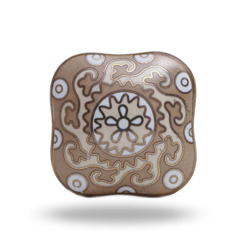 Amgel Square Ceramic Knob