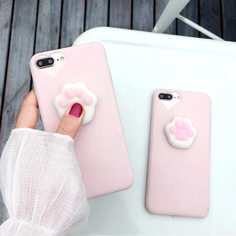 Cute Squishy Cat Claw iPhone Case