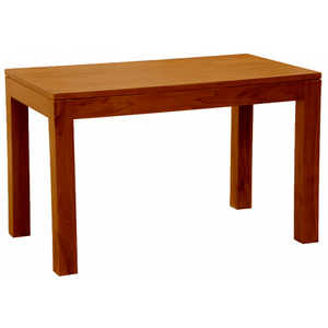 Sweden Amsterdam Teak Solid Timber 120 x 70 cm Rectangular Dining Table and 2 Bench  - ( Picture, Color for Reference Only ) ( Light Pecan Color )