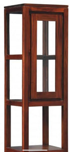 Sweden Teak Glass 1 Door 2 Drawer Display Cabinet 200 cm ( Mahogany Color )
