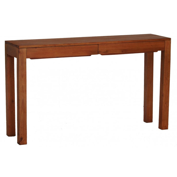 Sweden Teak 2 Drawer Sofa Table Console Writing Desk ( Light Pecan Colour )