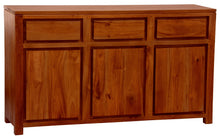 Sweden Teak 3 Door 3 Drawer Buffet Sideboard 156 cm , Light Pecan Color